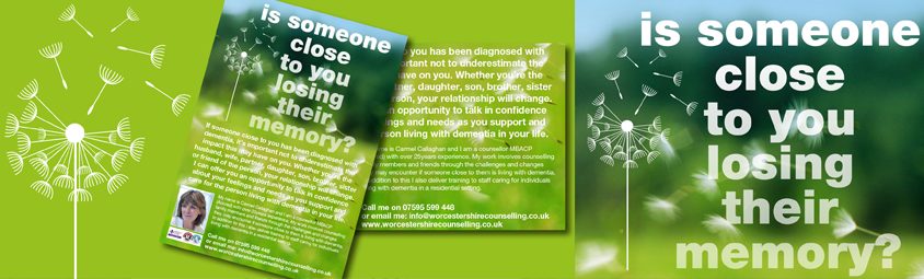 Dementia leaflet and logo